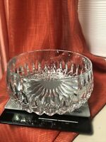 "Gorham Athena 7.25"" Serving Bowl-Full Lead Crystal-German Cut Glass Vintage"