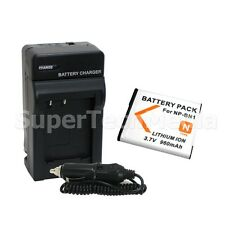 Battery + Charger Combo Kit For Sony NP-BN1 Cyber Shot DSC-W310 W320 W330 W350