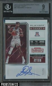 2018-19 Panini Contenders Playoff Ticket DeAndre Ayton RC AUTO 6/15 BGS 9