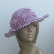 New Lilac Flower Sinamay Hat Mother Of The Bride/Groom Weddings, Ascot Races