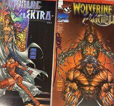 WITCHBLADE/ELEKTRA Witchblade/Wolverine Signed Turner Wohl Devil's Reign 5 & 6