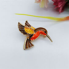 Unisex Women Men Fashion Hummingbird Suit Shirt Collar Apparel Brooch Pin Gift