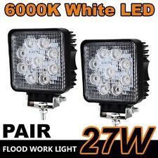 2x 27W LED Work Lights Waterproof Bar Flood Light Offroad Car Jeep Truck 12V IB