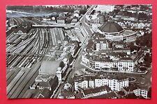 Eisenbahn Foto AK BASEL Schweiz Landesbahnhofplatz und Grossmarkthalle   ( 24548