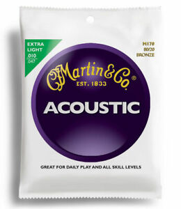 Set of Martin Guitar Strings M170 80/20 Bronze Acoustic 10-47 Extra Light