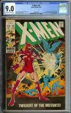 X-MEN #52 CGC 9.0 OW/WH PAGES // 1ST FULL APP ERIK THE RED 1969