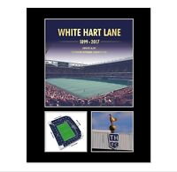 White Hart Lane Mounted Photo Display Commemorative Gift for Tottenham Spurs Fan