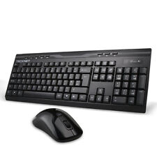 TeckNet X300 2.4ghz Full Size Ergonomic Wireless Keyboard and Mouse Combo