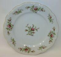 Vintage Johann Haviland Bavaria Germany Dinner Plate - Pink Roses