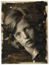 photo tirage original &effets de virage - Regard d'enfant - Philippe Salaün 1980