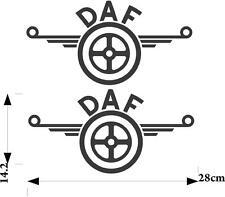 DAF LOGO ADESIVI 2 X per carrozzeria vetri e Pulire Superficie Dura