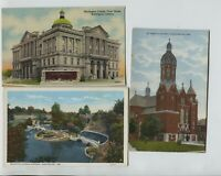 2 1910-1920's & 1 1940's era Huntington Indiana Postcards