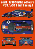 MFH 1/24 Full Detail Kit: 1 GTR Ver.D '96 Sarthe 24h #33/34 [Gulf Racing]