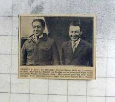1927 French Flight To Brazil, Captain Costes And Lieutenant Le Brix