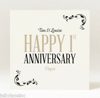 Hand Designed Personalised Anniversary Scroll Card - Select your anniversary