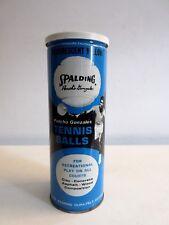 Vintage Spalding Pancho Gonzales Tennis Balls Original Tin Can w/ Signed Balls