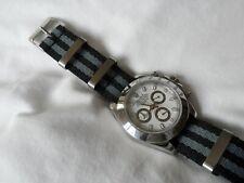 James Bond Watch Strap to fit Nato Strap fits Rolex Daytona Black Grey 20 mm