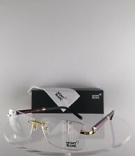 New Authentic MONT Blanc MB 483 030 Eyeglasses Burgundy/Gold  MB483 58mm Frame
