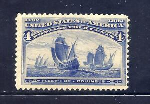 US Stamps - #233 -  MNH - 4 cent 1893 Columbian Expo Issue - CV $140