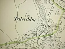 Old Antique Ordnance Map 1901 Montgomeryshire XXVII.11 Talerddig Village ...