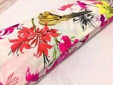 *NEW*Stretch Lycra Single Knit Floral Jersey Dress/Craft Fabric*FREE P&P*