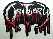 OBITUARY EMBROIDERED BACK PATCH