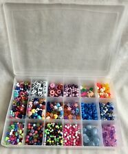 Mixed Lot of Kids Crafting/Jewelry Making Beads, Assorted Colors/Shapes/Sizes