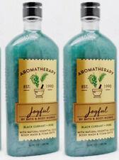 2 Bath & Body Works Aromatherapy JOYFUL BLACK CURRANT PINE Wash Foam Bath Bubble