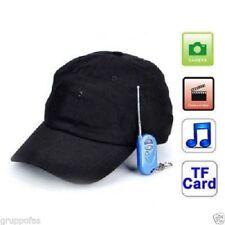 CAPPELLO SPIA SPY MICRO CAMERA REGISTRATORE AUDIO VIDEO DVR BLUETOOTH MP3 SPORT