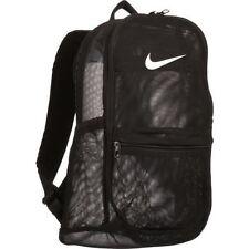NWT Nike Brasilia 7 Mesh Net Backpack Black White Travel Book Bag BA5388-010