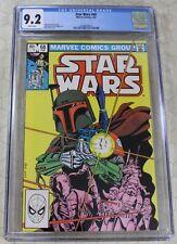 Marvel STAR WARS #68 CGC 9.2 Boba Fett Cover Mandalorian !!