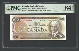 Canada 100 Dollars 1975 BC-52b Uncirculated Grade 64