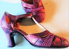 Arika Nerguiz Tango Shoes Magenta & Purple & Black Size 6 1/2 from Broadway Show