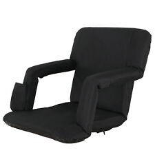 Stadium Chair Cushion Recliner Portable Padded Seat Folding Black Sport Bleacher