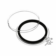Air-Tite 40mm Black Ring Coin Capsules for 1oz Silver Eagles 25 Pack