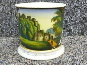 Antique Souvenir Colour Transfer Ware Pottery Mug A Present From Beaumaris