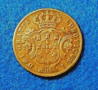 1866 Azores (Kingdom of Portugal) 5 Reis - Fantastic KEY DATE - Only 60K Minted