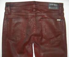 Sinclair MFGRP Womens Size 26 Burgundy Skinny Stretch Denim Jeans  USA $238