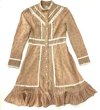 "New listing Vintage 70s Gunne Sax Women's Dress 29"" Waist Cottage Core Prairie Pink L/S Midi"