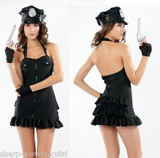 Ladies Sexy Cop Police Woman Hen Party Halloween Fancy Dress Costume Outfit