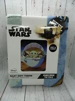 Disney Star Wars The Mandalorian Child Silky Soft Throw Blanket 40 x 50 NEW