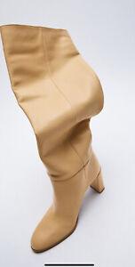 ZARA Stiefel Leather  Boots Crotch NEU