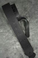 PRS LEATHER BIRDS GUITAR OR BASS STRAP BLACK SOFT PAUL REED SMITH