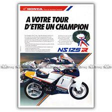 PUB HONDA NS 125 R NSR125 NSR - Original Advert / Publicité Moto de 1987