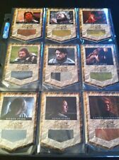 Game of Thrones Costume RELIC Card set of 9 BANNER HBO Prop VARIANT. Rittenhouse