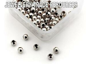 20 Piezas De 1.6 Mm X 2mm X 1.1 Mm De Plata Esterlina Crimp Tubos Molduras /& Pearl crimping