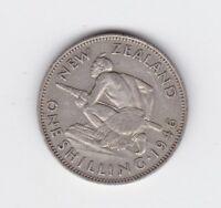 1946 New Zealand Silver Shilling Coin E-740