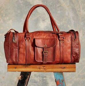S ZU XXL Vintage Echtleder Ziege Hide Reisetasche Gepäck Duffle Sporttasche