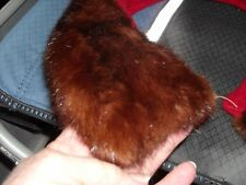 vintage real Mink family mahogany brown fur hide collar for coat jacket or craft