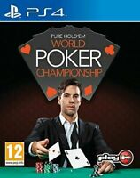 Pure Hold'em World Poker Championships Sony Playstation 4 PS4 Game gift idea NEW